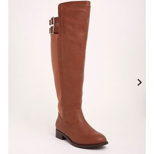 Torrid over the knee brown boots-WIDE